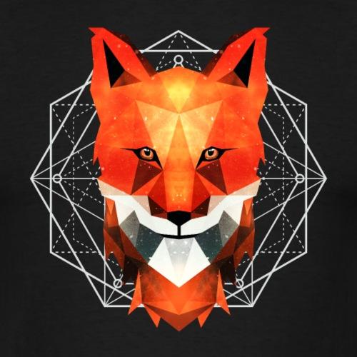 Geometrische Tiere roter Fuchs