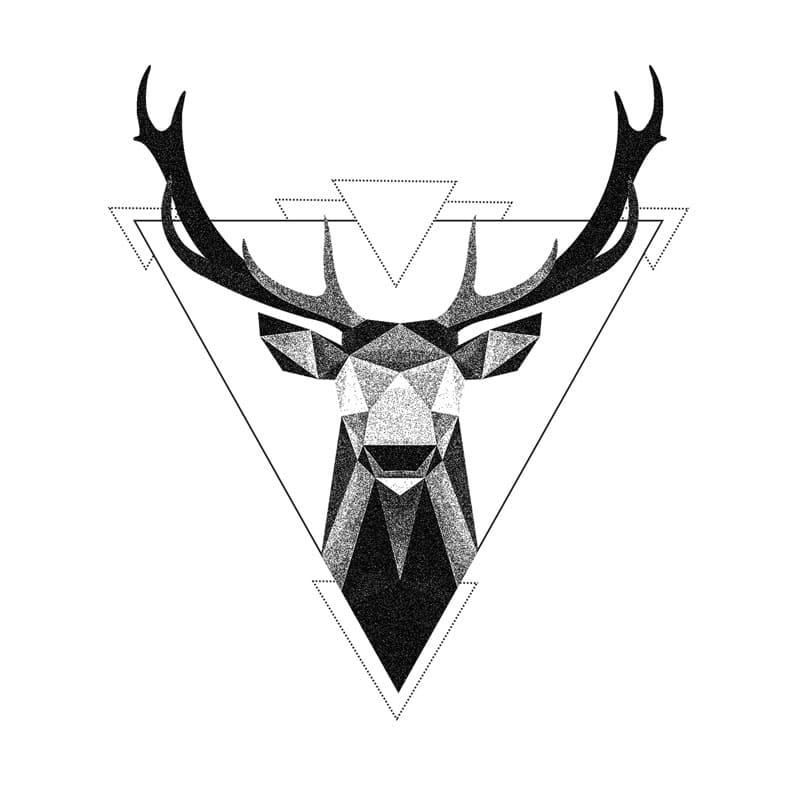 Geometrische Tattoos Hirsch
