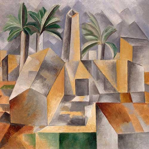 Kubismus - Ziegelfabrik in Tortosa (Brick Factory at Tortosa) Gemälde von Pablo Picasso
