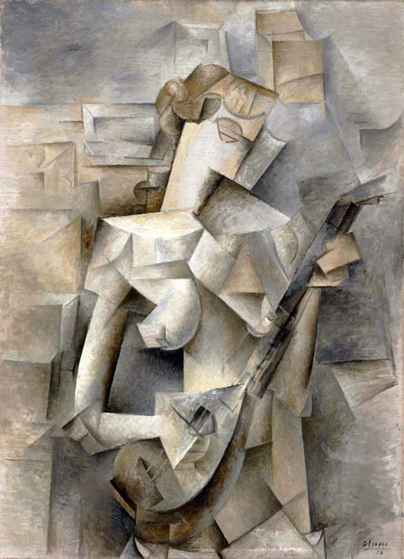 Pablo Picasso, 1910, Girl with a Mandolin