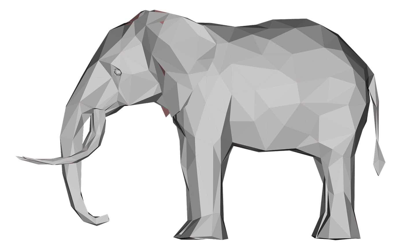 Low poly Elefant