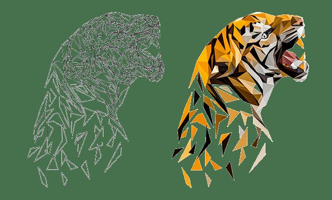 Tiger Geometrisch