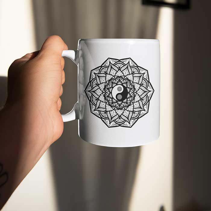 yin und yang tasse