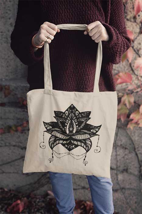 Mandala auf Tasche