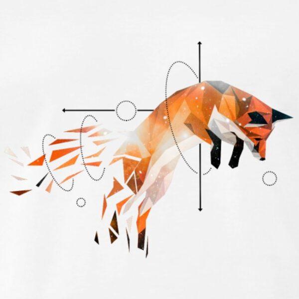 Springender Fuchs Geometrisch