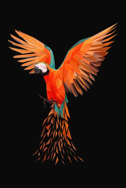 Polygon Art Papagei