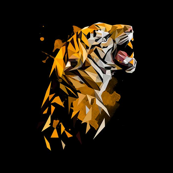 Tiger Polygon Art